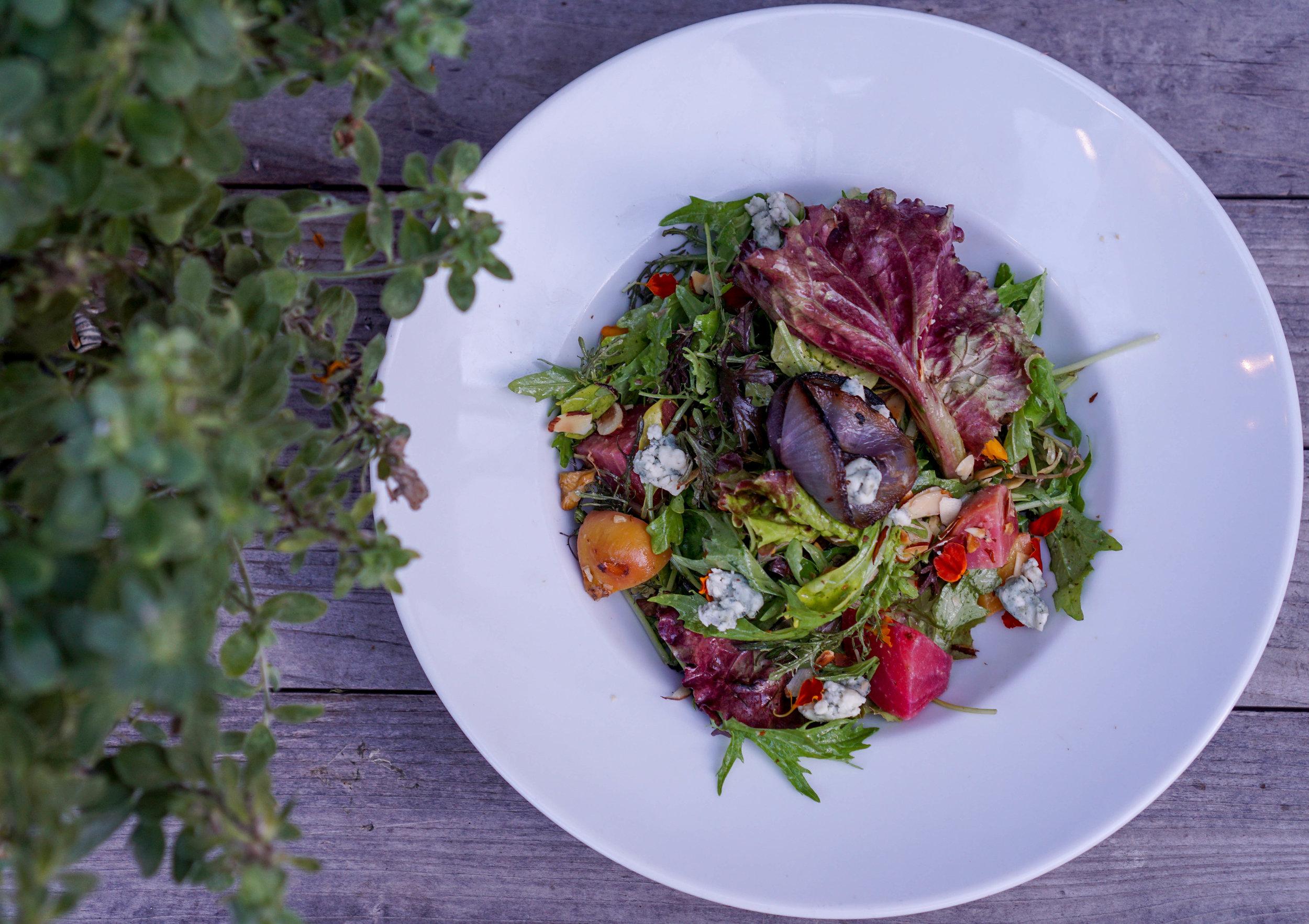 Charcoal Miami Beets + Greens Salad