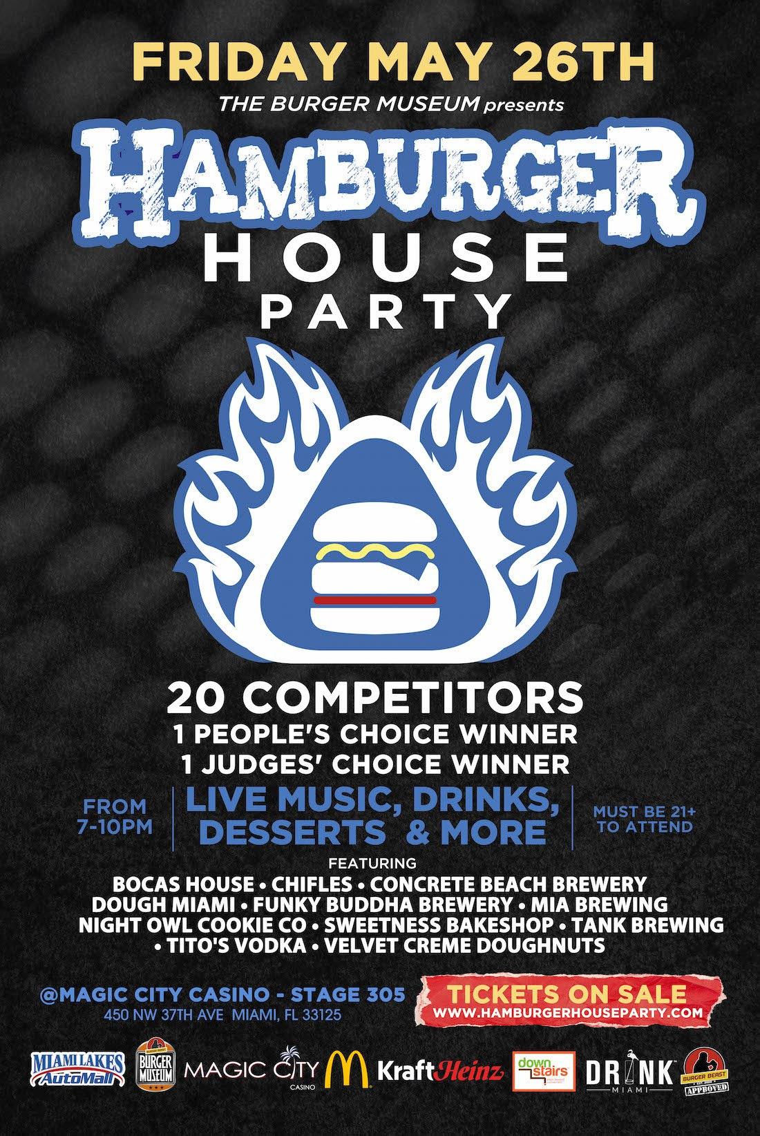Burger Beast Hamburger House Party