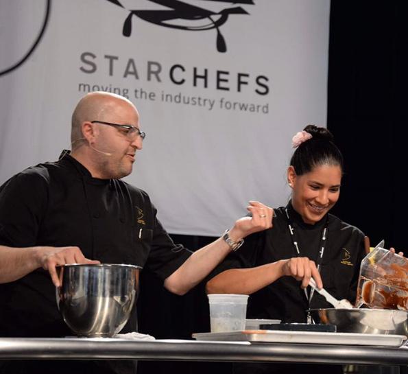 Chefs Antonio Bachour and Karina Rivera at StarChefs
