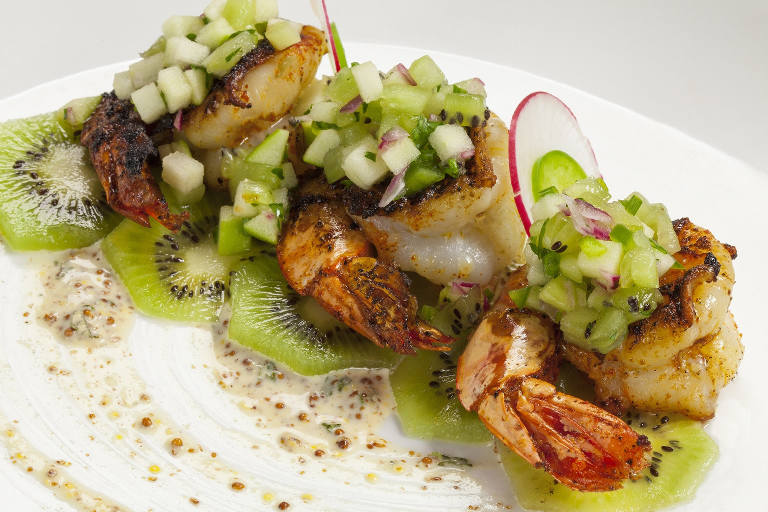 Chef Adrianne Calvo Shrimp Kiwi Miami