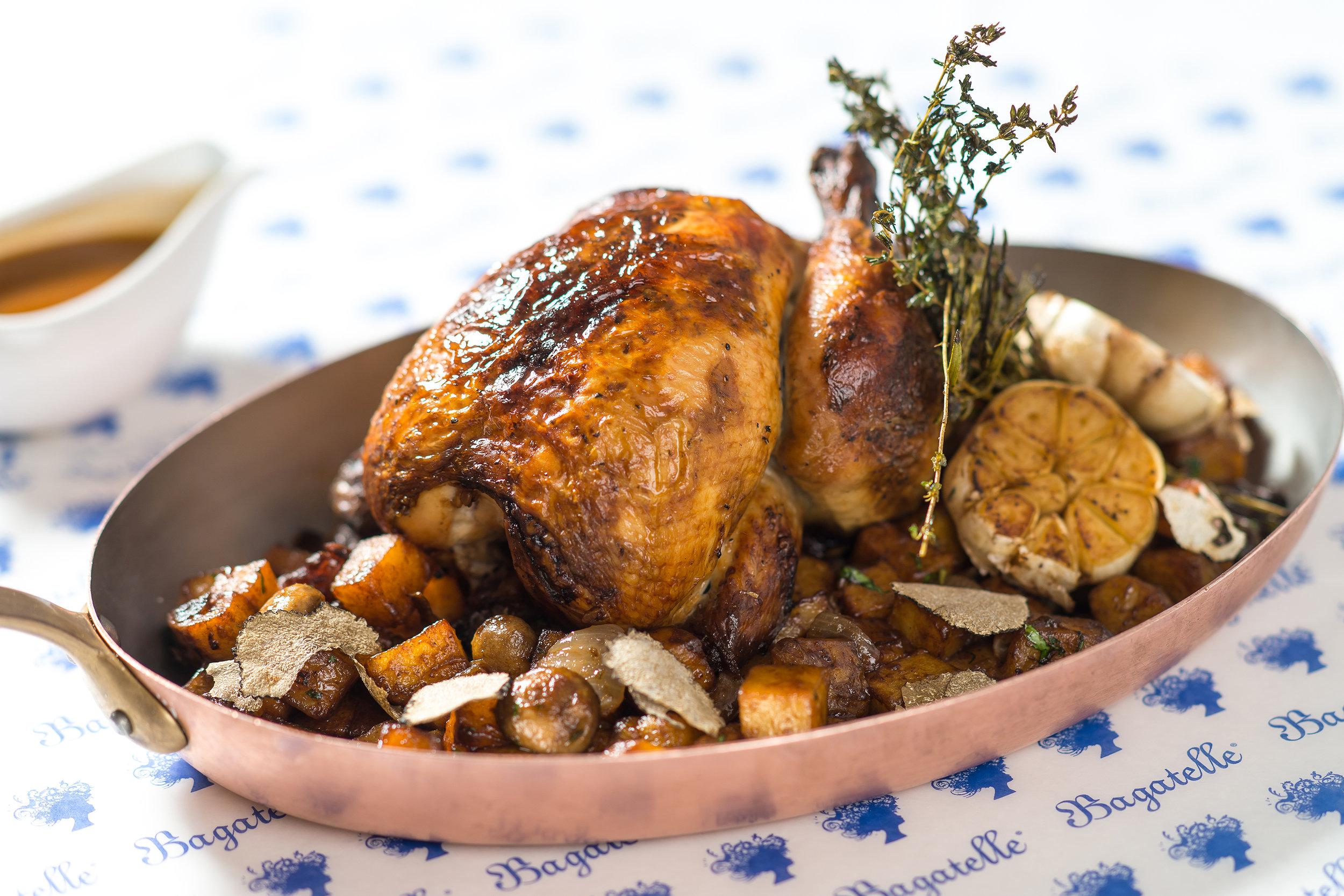 Bagatelle Miami Beach Poulet Roti Entier Truffled Chicken