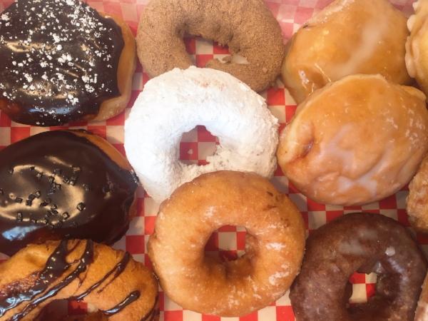velvet creme doughnuts