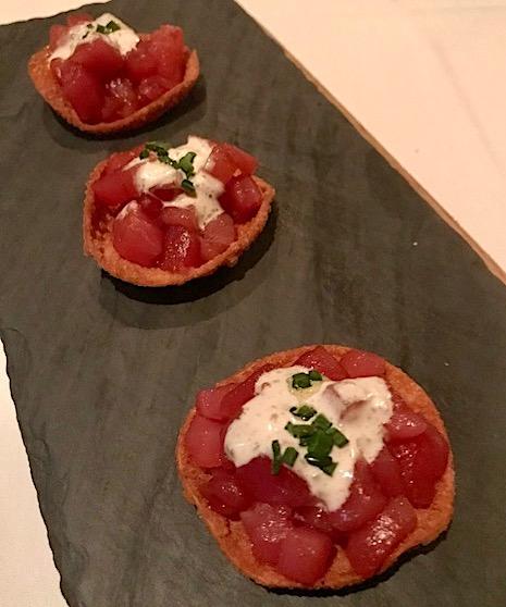 Chef Adrianne Calvo Blue Fin Tuna Tartare