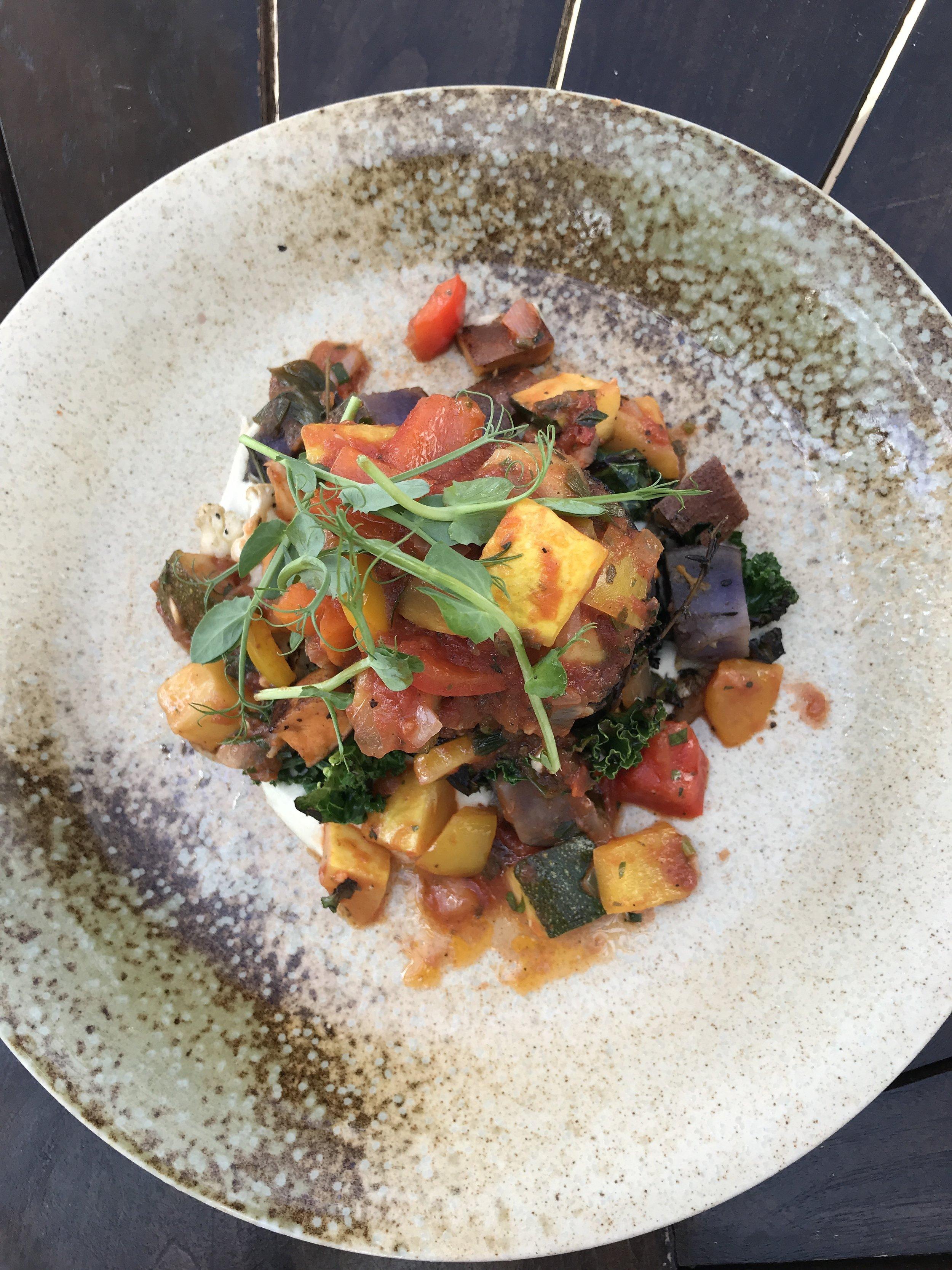 Soul Tavern Miami Beach Eggplant Medallion Ratatouille