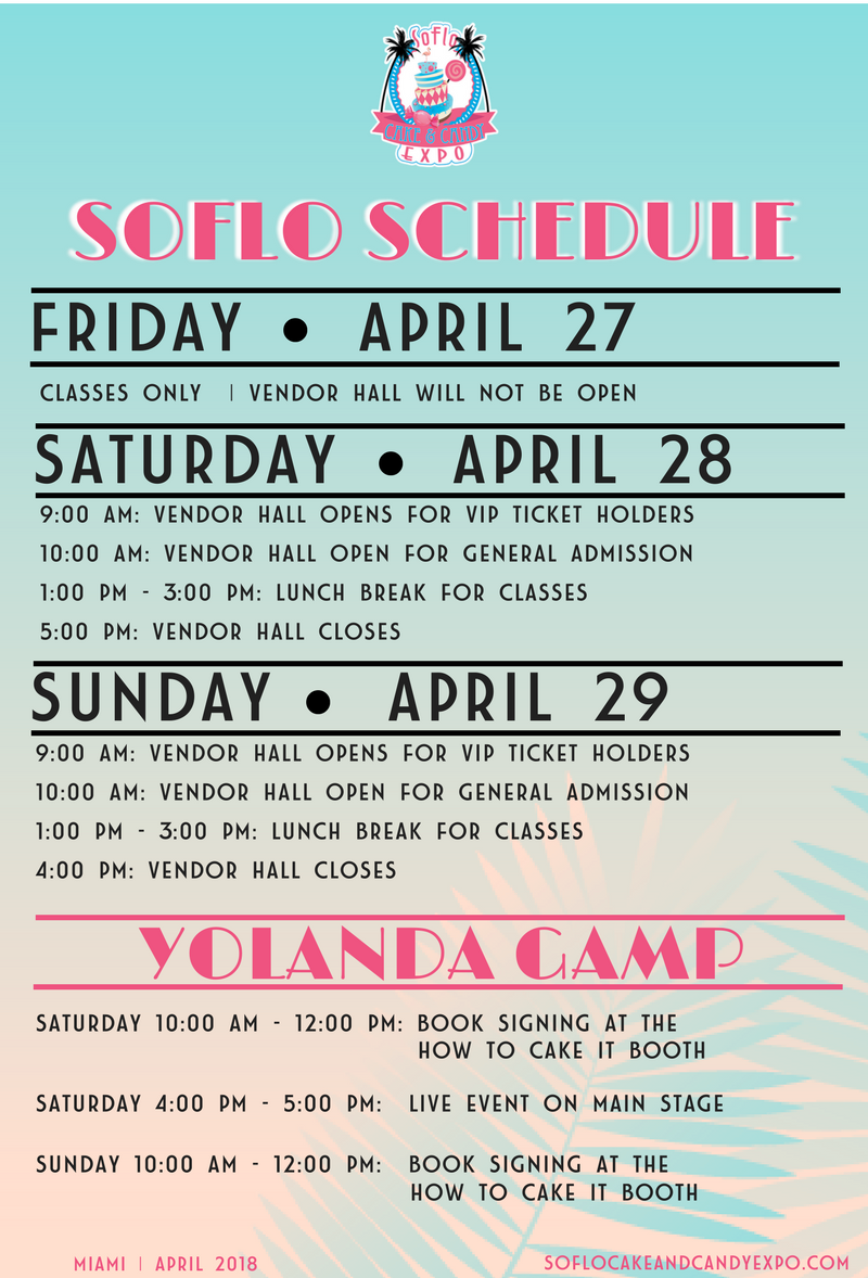 soflo cake and candy expo 2018 schedule