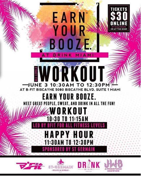 earn your booze drink miami week