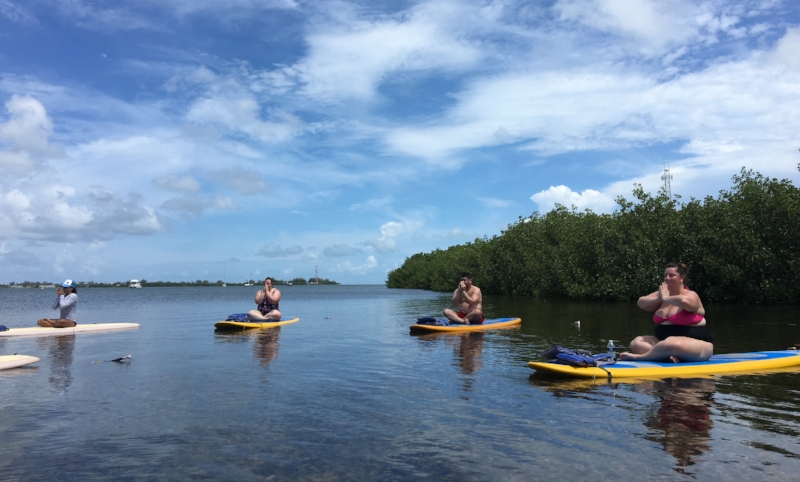 lazy dog paddle board yoga key west