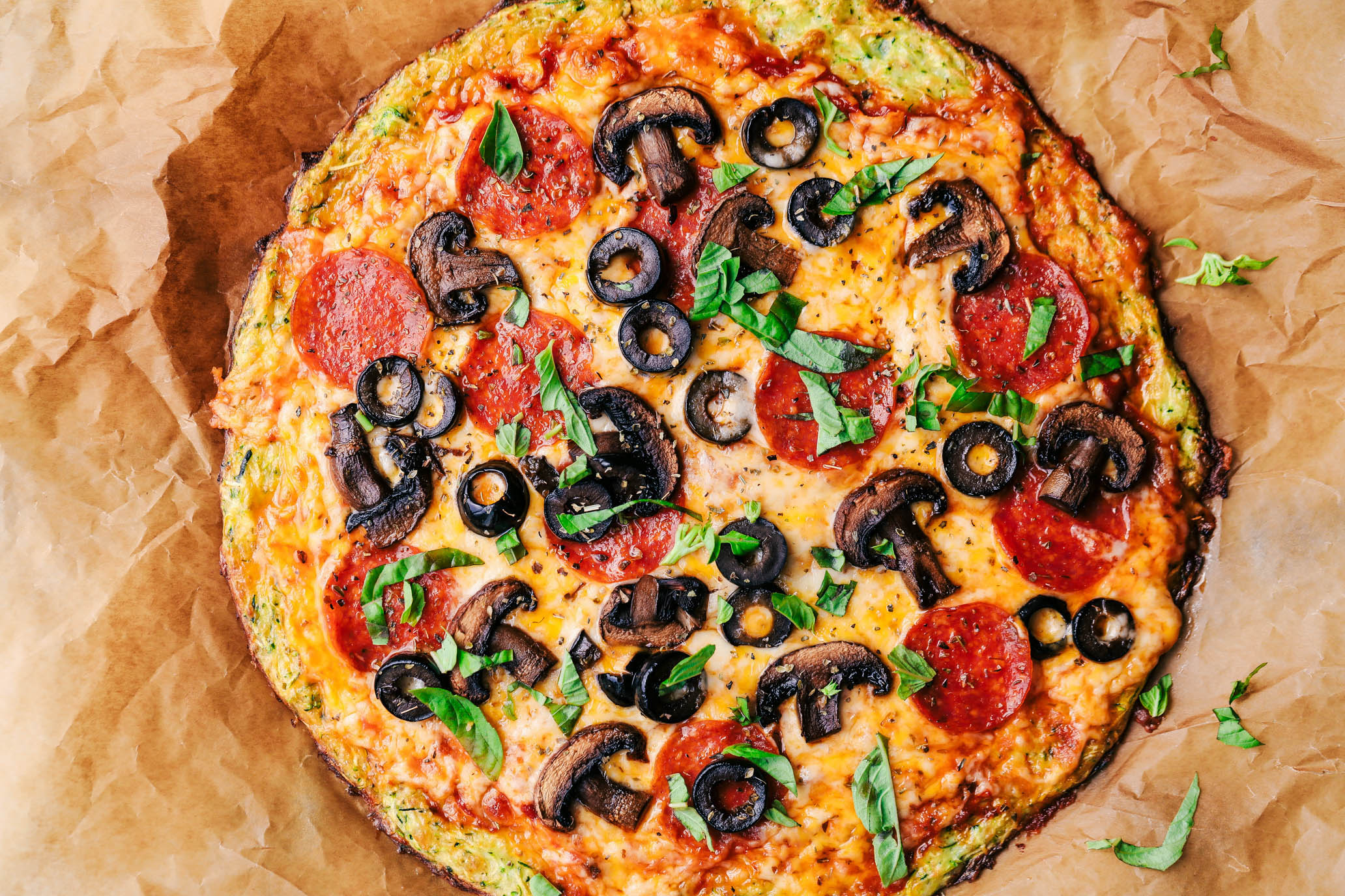 Zucchini Crust Pizza Recipe MIAbites