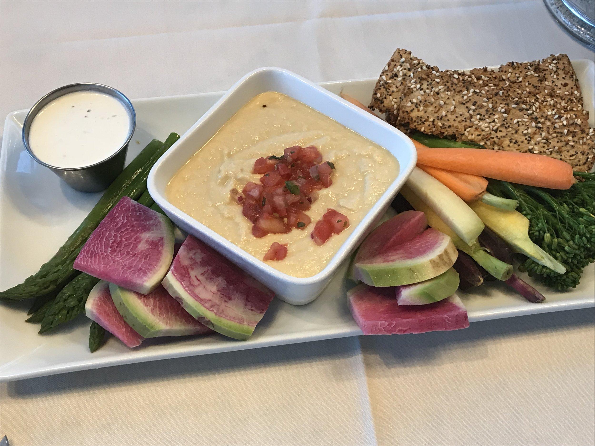 Sea Level Veggies and Hummus