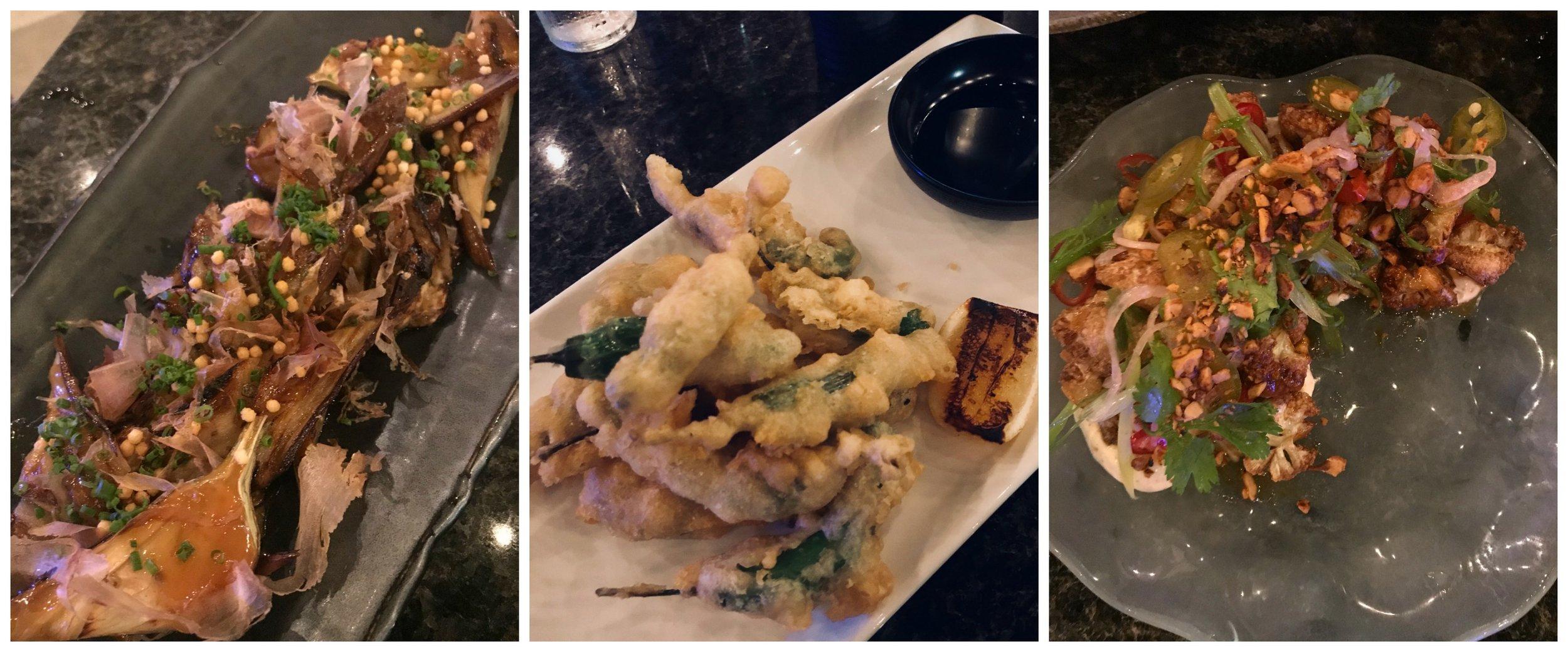 Vagabond Sushi appetizers