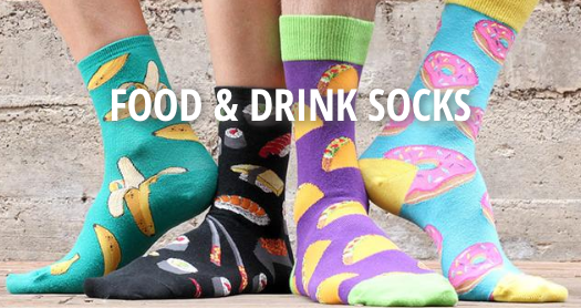 Sock Drawer Food and Wine socks MIAbites