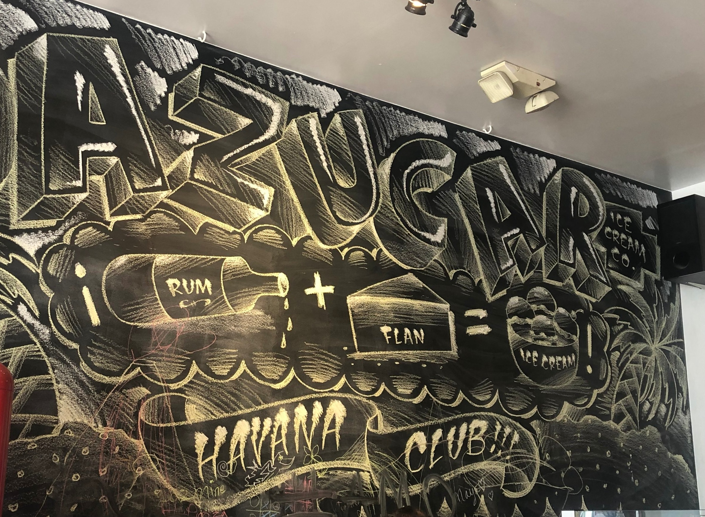 To honor the delicious collaboration, local artist   Atomiko   drew a chalk mural inside the shop