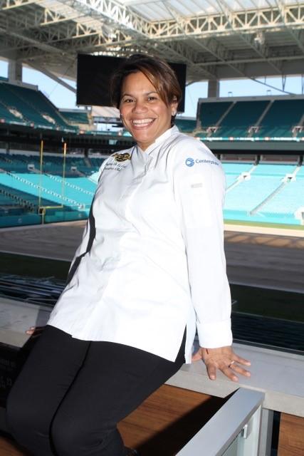 Chef Dayanny de la Cruz Hard Rock Stadium Super Bowl