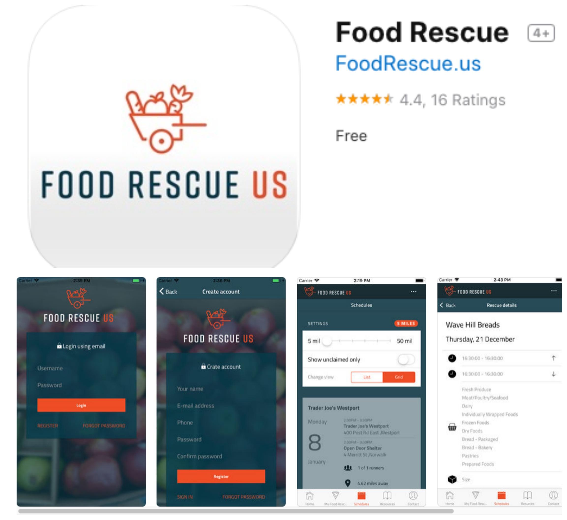 Food Rescue US app