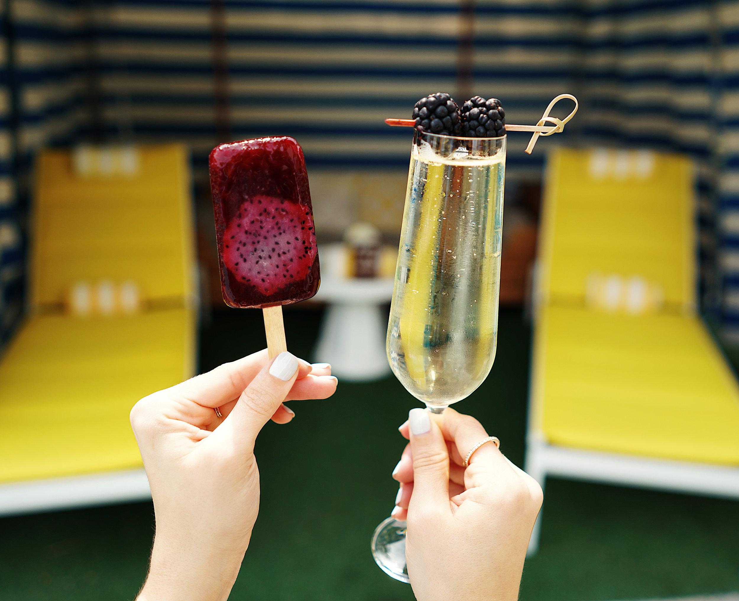 Cielito Artisan Pops_ Hibiscus Mini Pop_ Glass of Avissi Prosecco 2.jpg