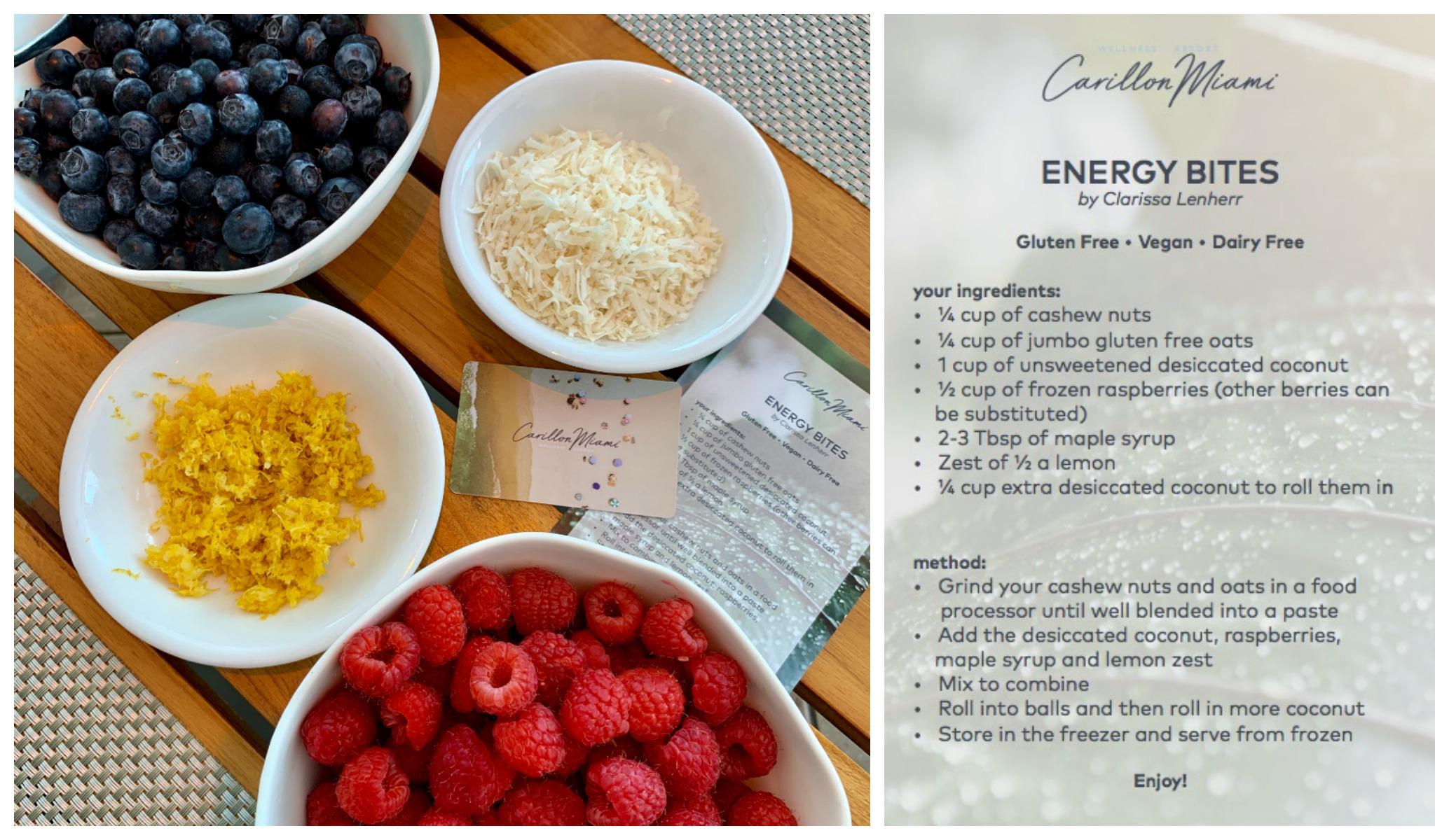 Clarissa Lenherr Energy Bites Recipe Carillon Resort
