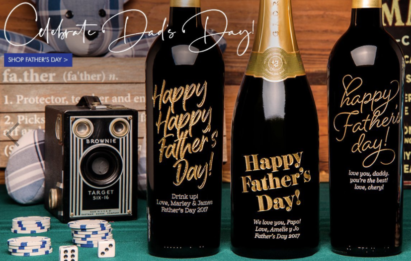 Etched Wine for Father's Day MIAbites