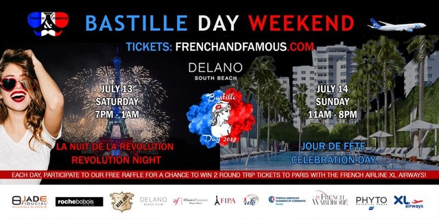 Delano South Beach Bastille Day 2019