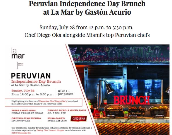 La Mar Miami Peruvian Independence day