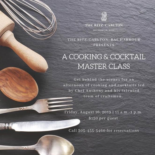 Ritz Carlton Bal Harbour cooking class