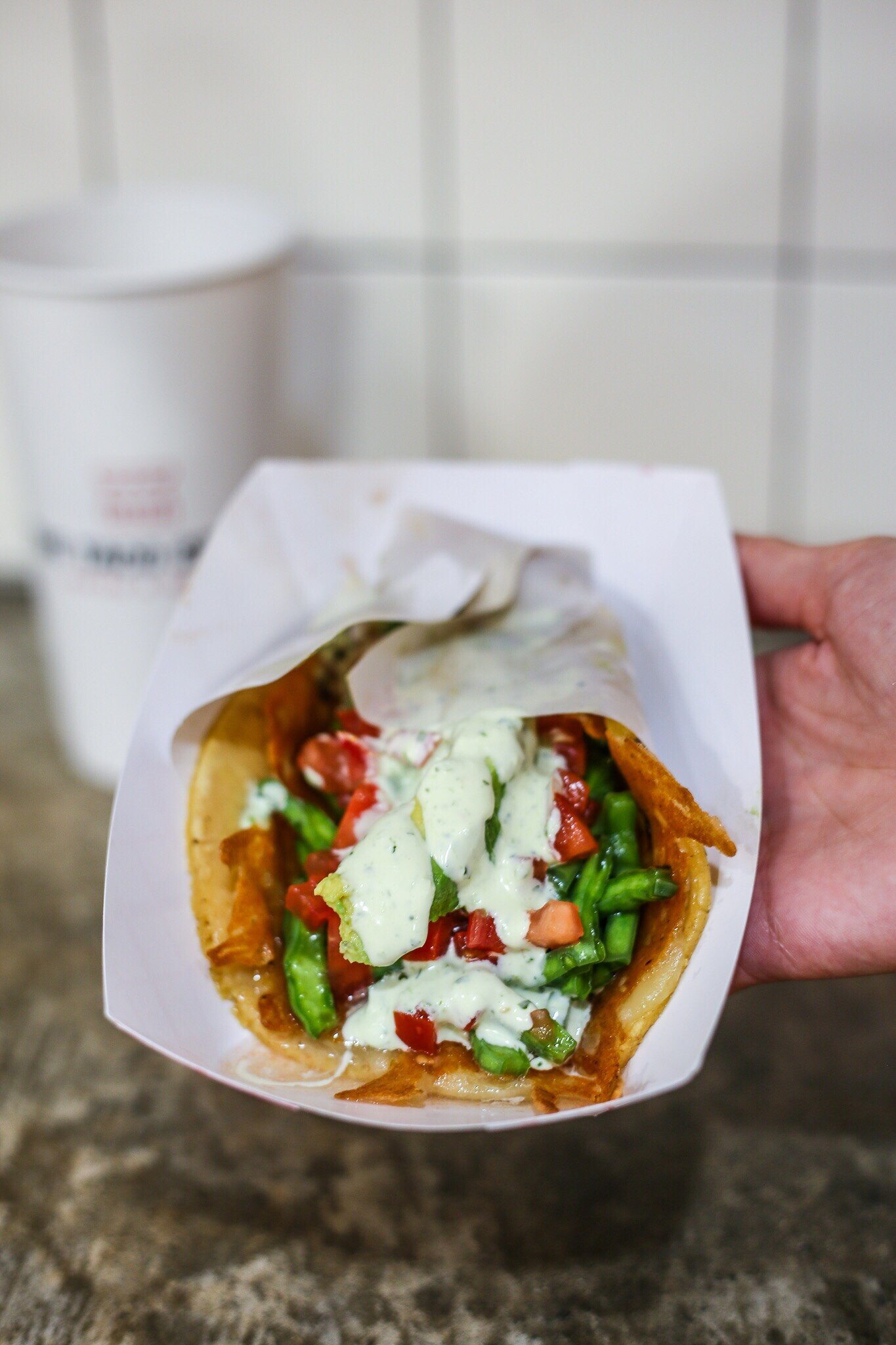 The Taco Stand Wynwood Veggie Taco