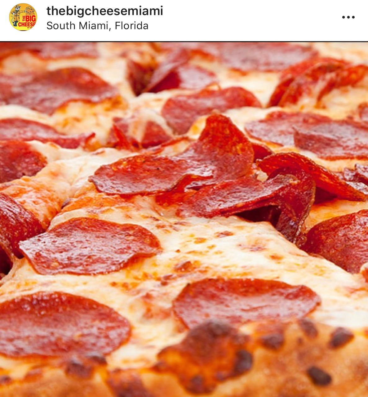 The Big Cheese Miami pizza