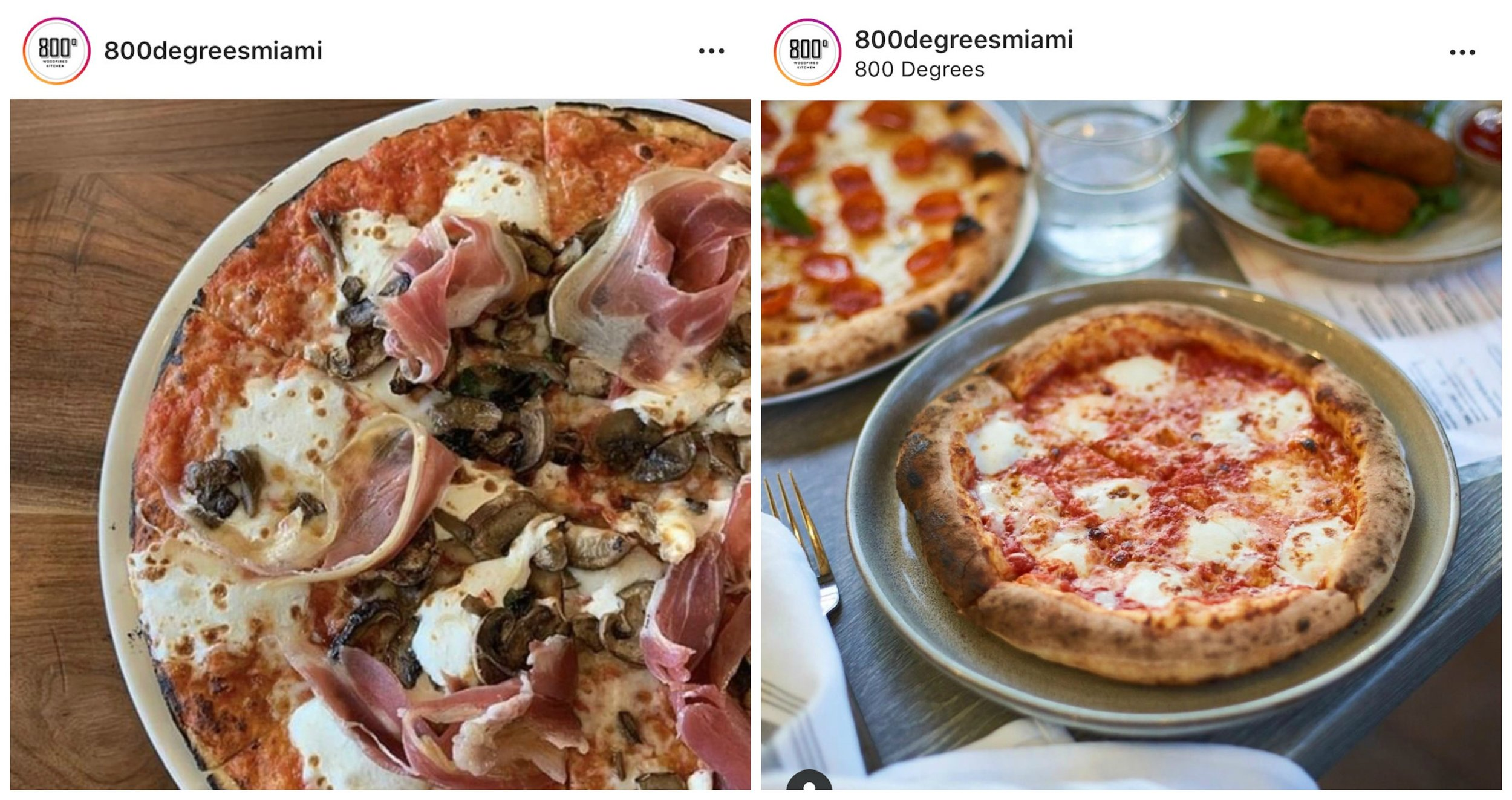 800 Degrees Woodfired pizza Miami
