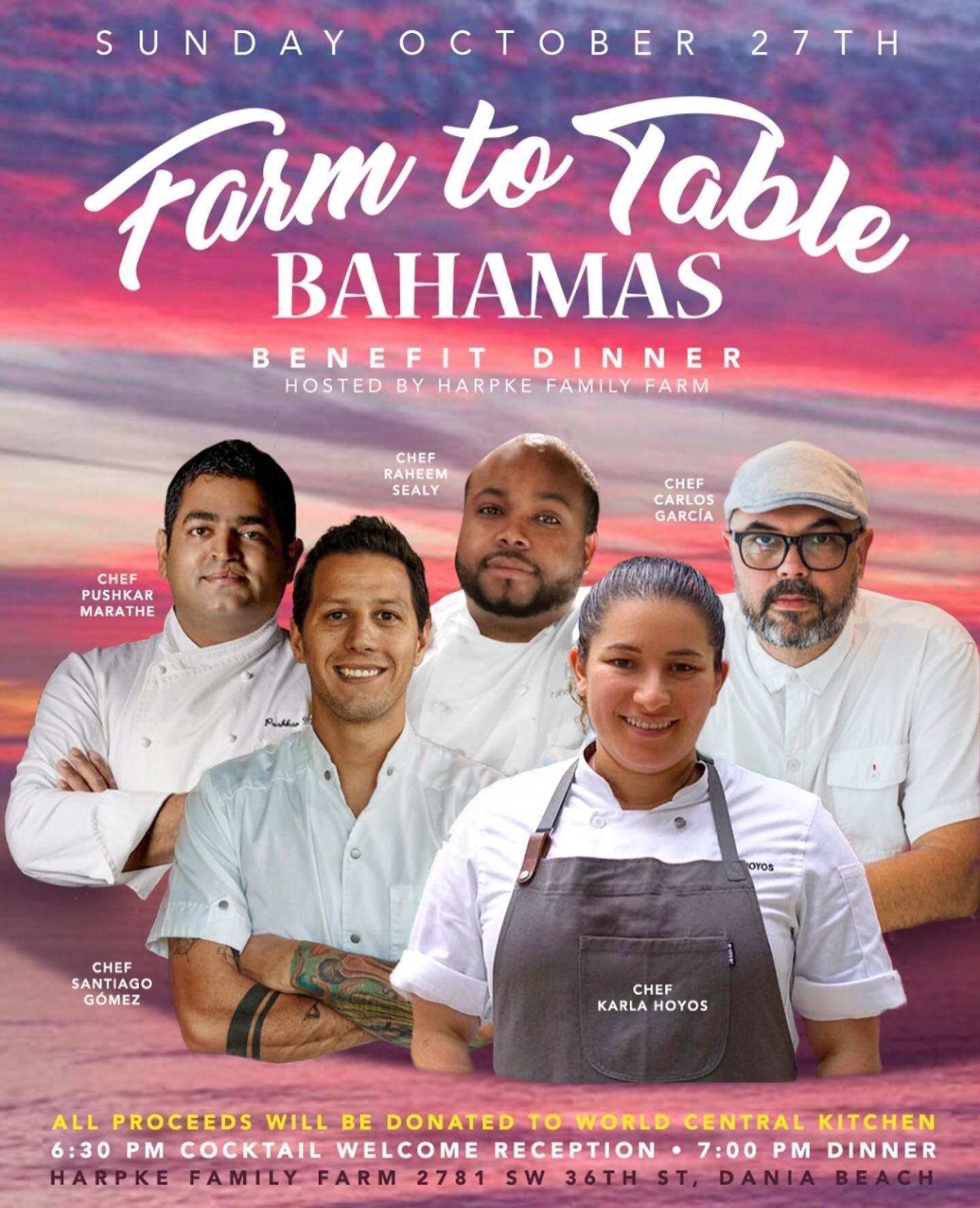 Harpke Farm dinner Benefit for Bahamas