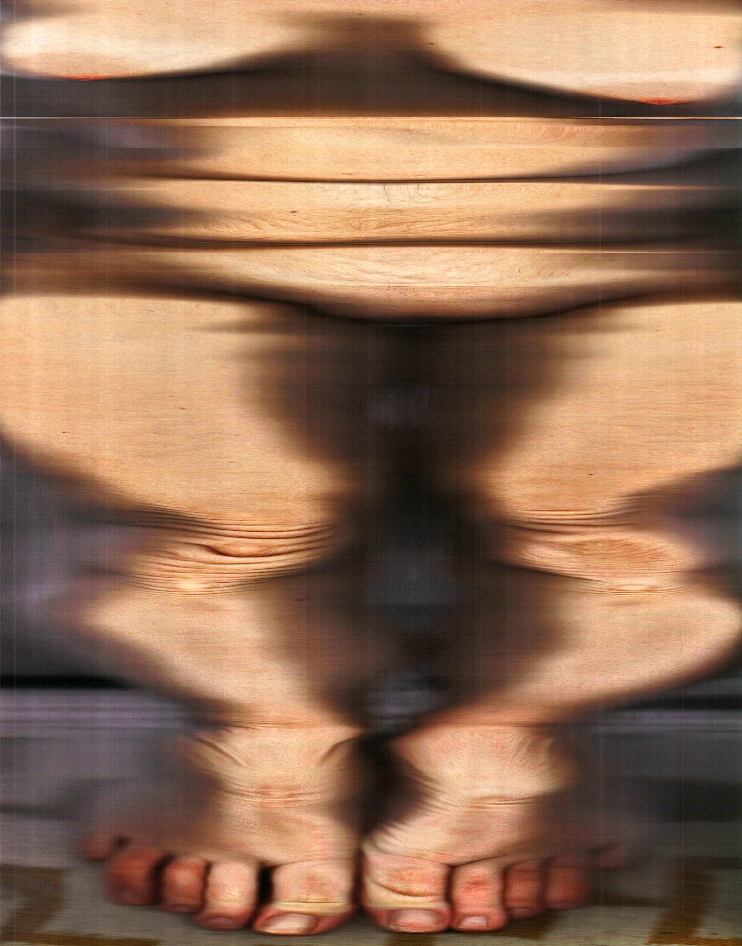 "Broke Down Frames , 2015  Archival Digital Prints, Waxed Linen Thread  42.5"" x 54"""