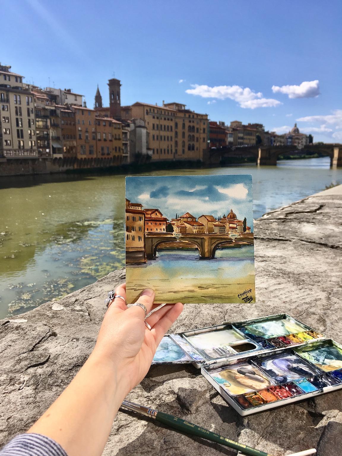 Riverside in Florence