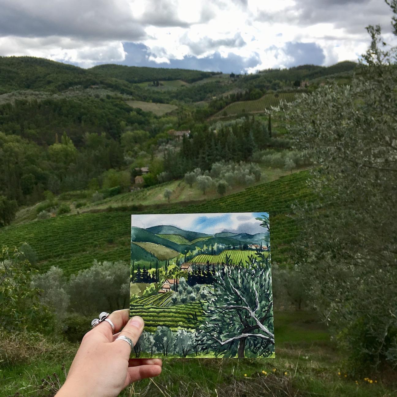 Watercolor of Tuscany