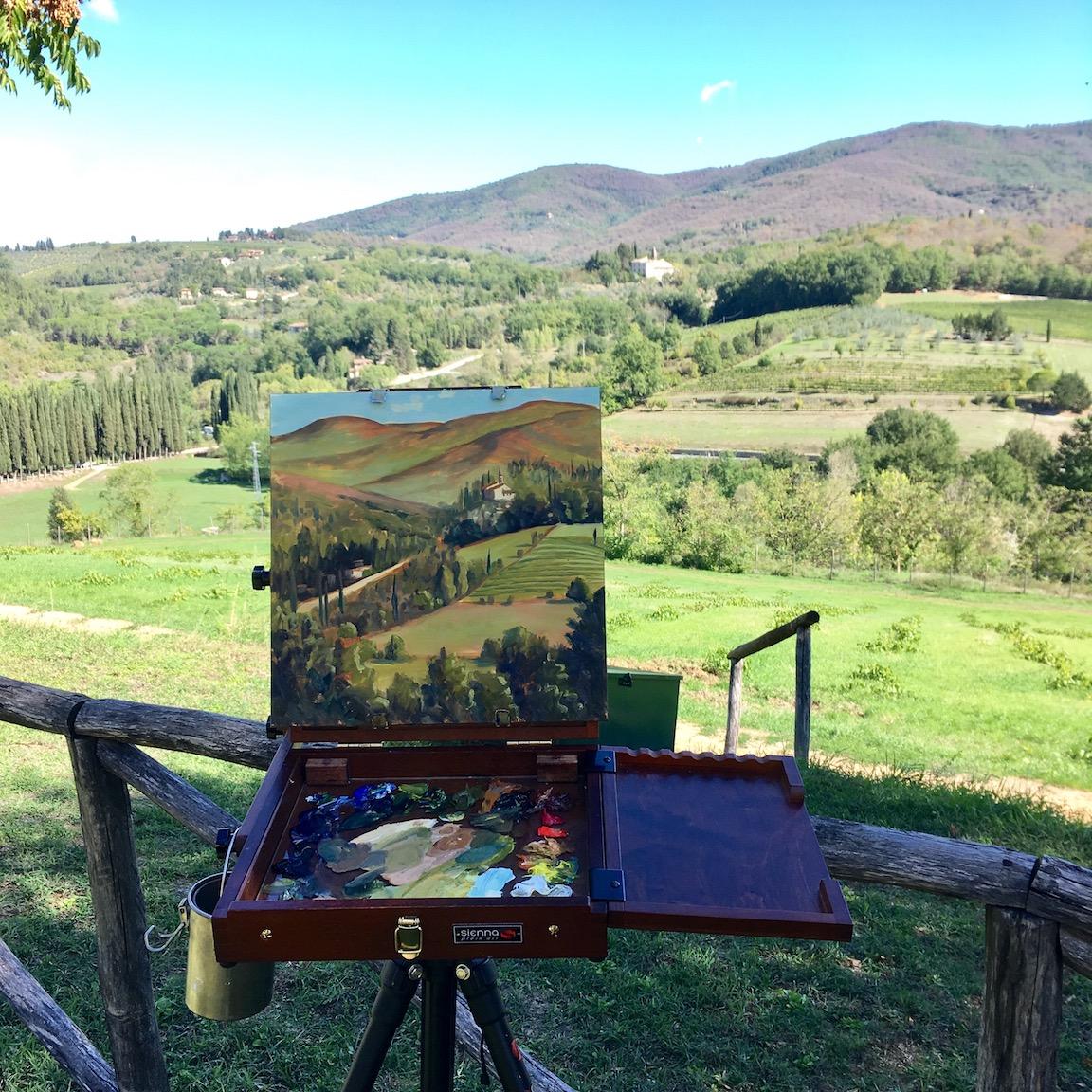 View From Villa Calcinaia