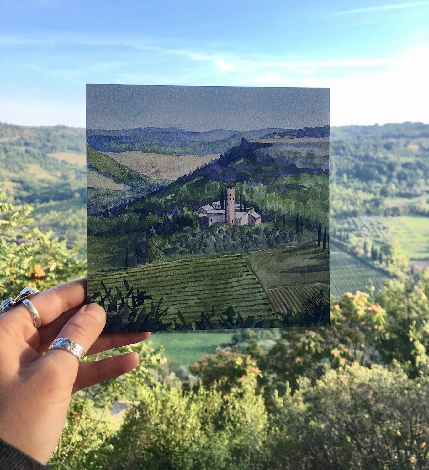 Here is a little painting I made in Orvieto, Italy last year!