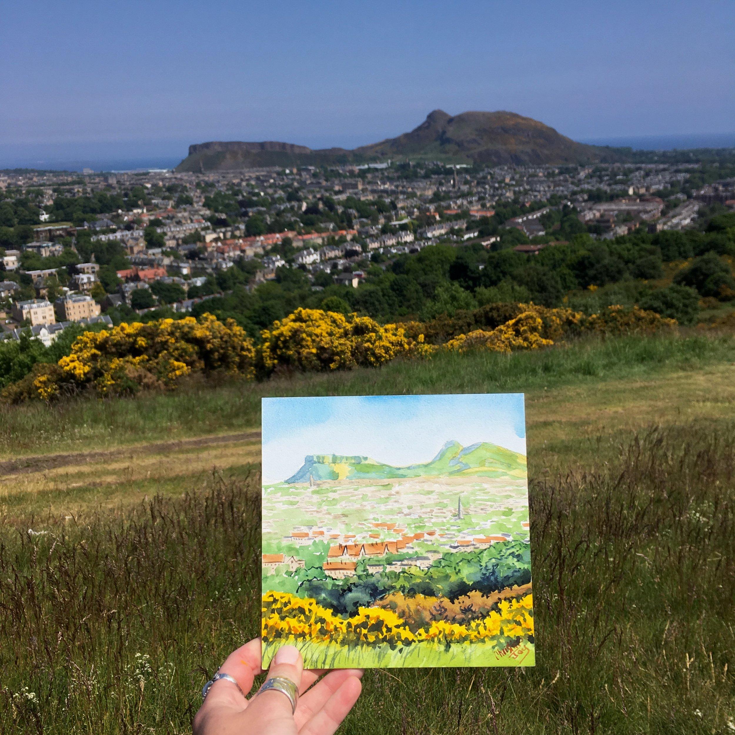 Hilltop in Edinburgh