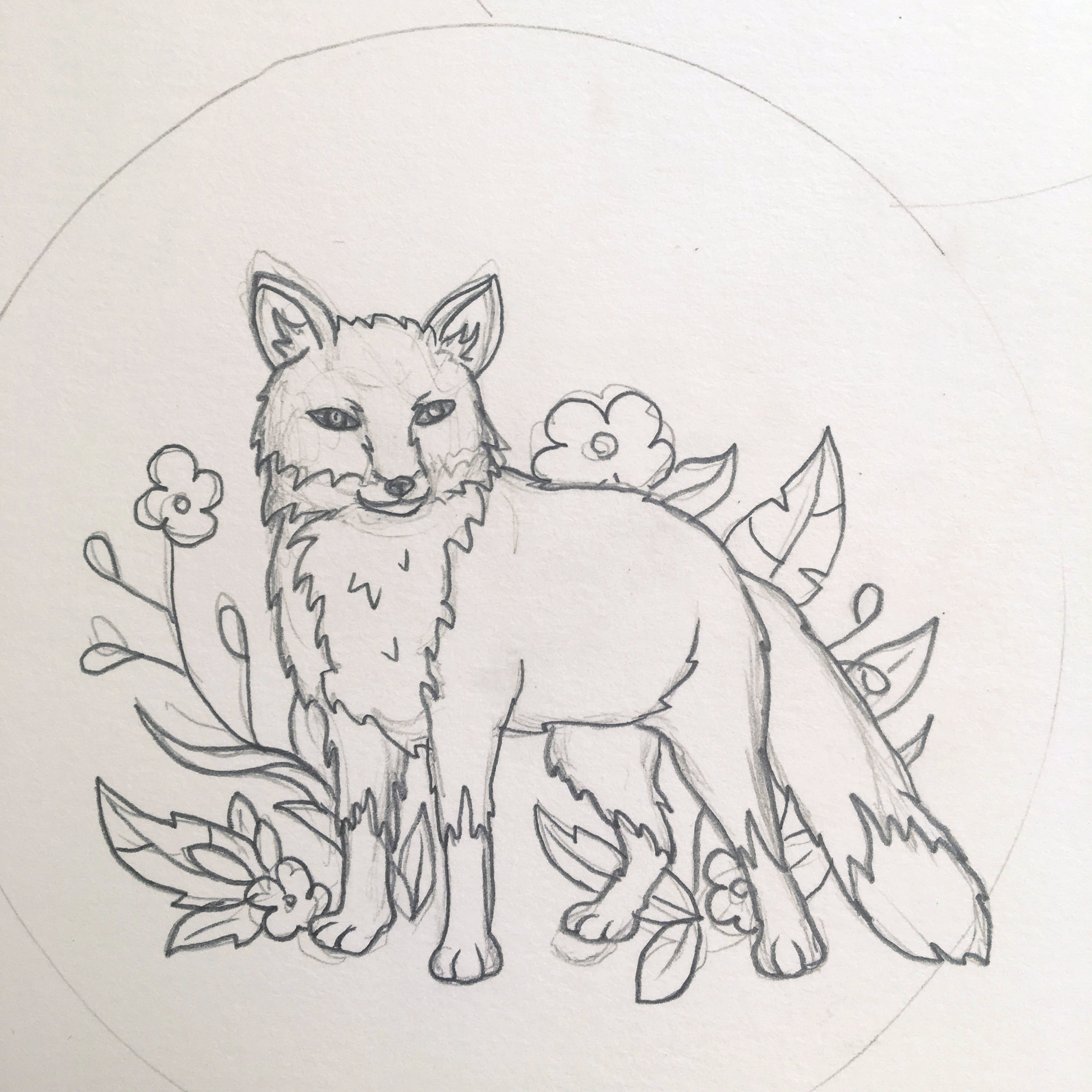 JV Popsocket Fox Drawing