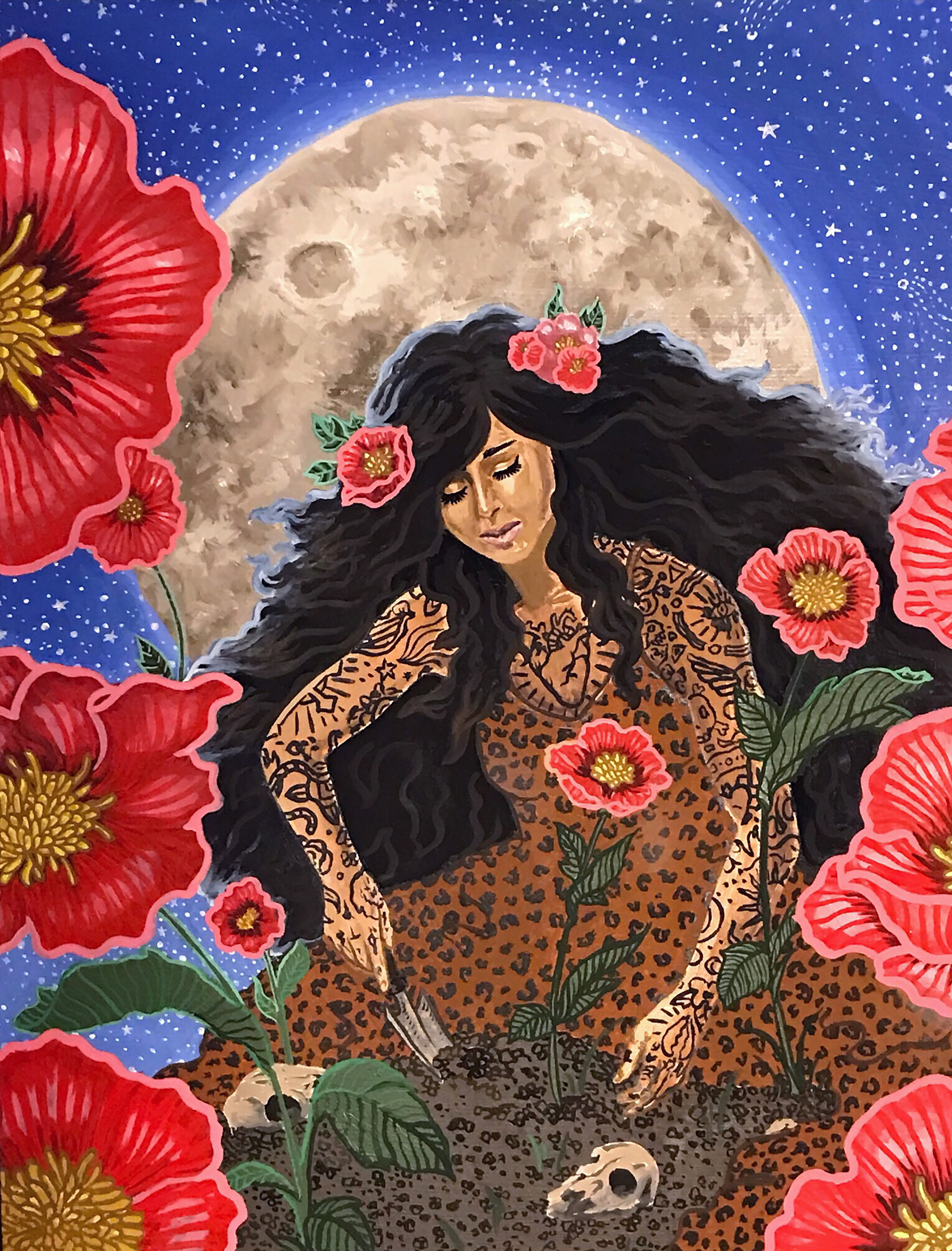 Jessica Violetta Ritual Original Painting 2019