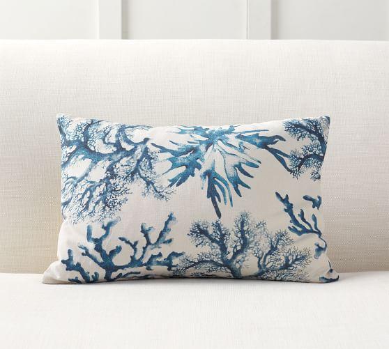 Jessica Violetta Watercolor Coral Pottery Barn 2019 Pillow