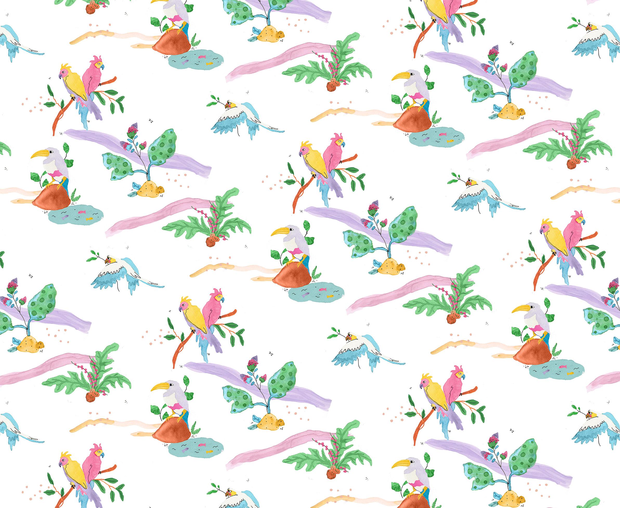 Jessica Violetta Tropical Bird Print 2019