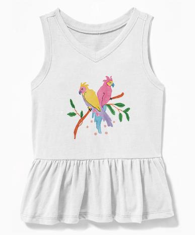 Jessica Violetta Tropical Birds Graphic Tank 2019