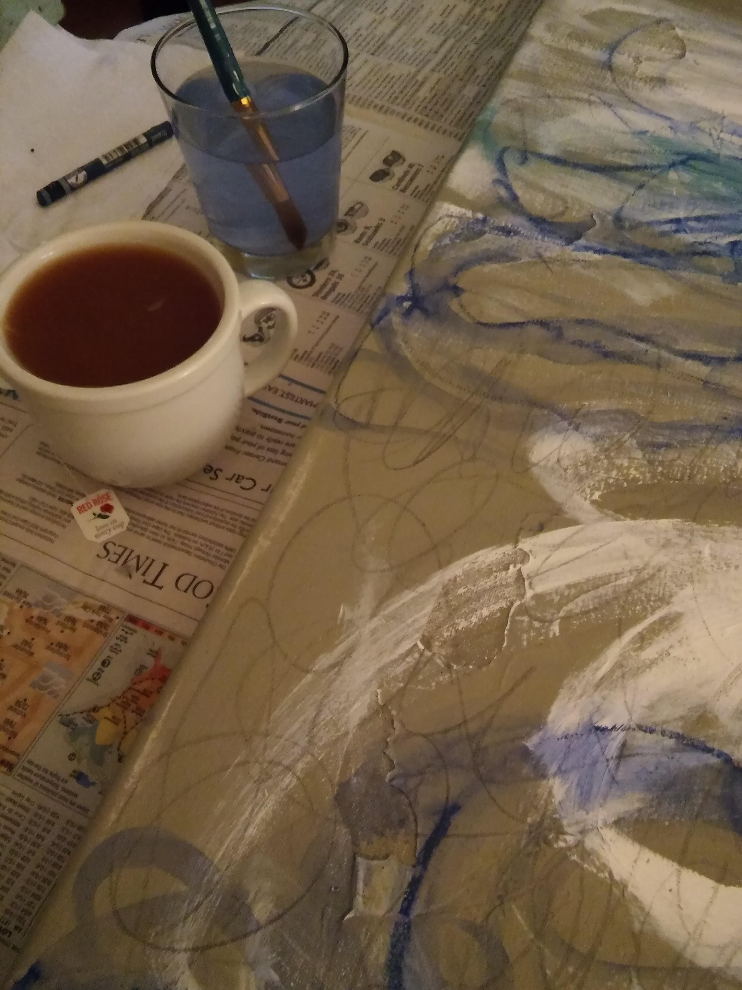 In the works, with tea.