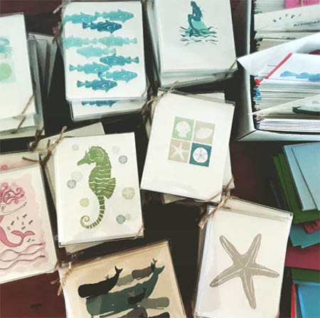 Boxed Sets of 8 and Single Greeting Cards… all printed on recycled paper.