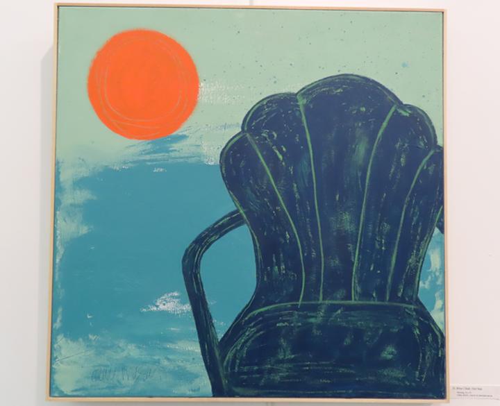 Blue Chair, Hot Sun
