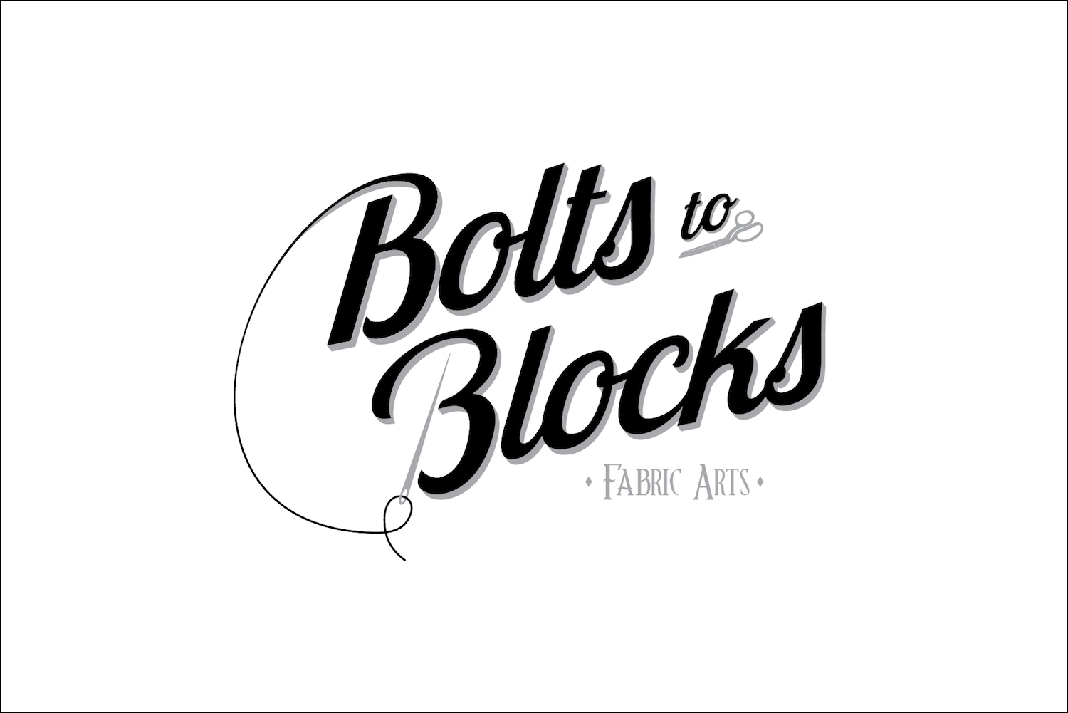 Logo design for new fabric store downtown Albany, Ore.