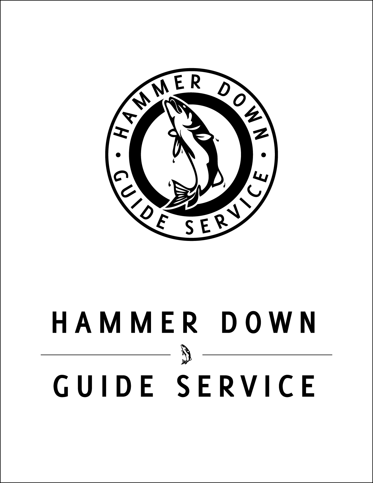 Logo design for fishing guide service based in Corvallis, Ore.
