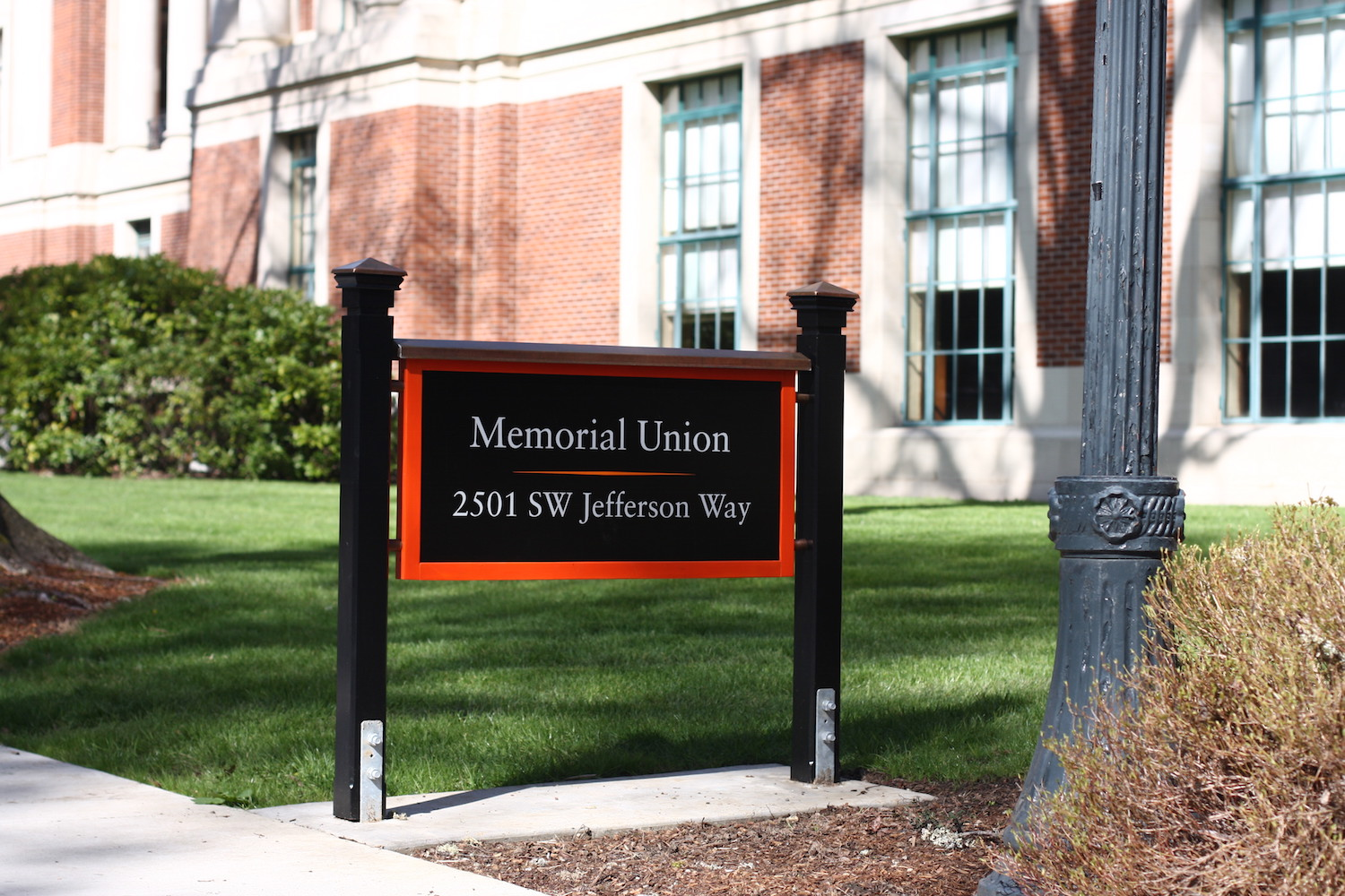 Monument signage on the OSU campus.