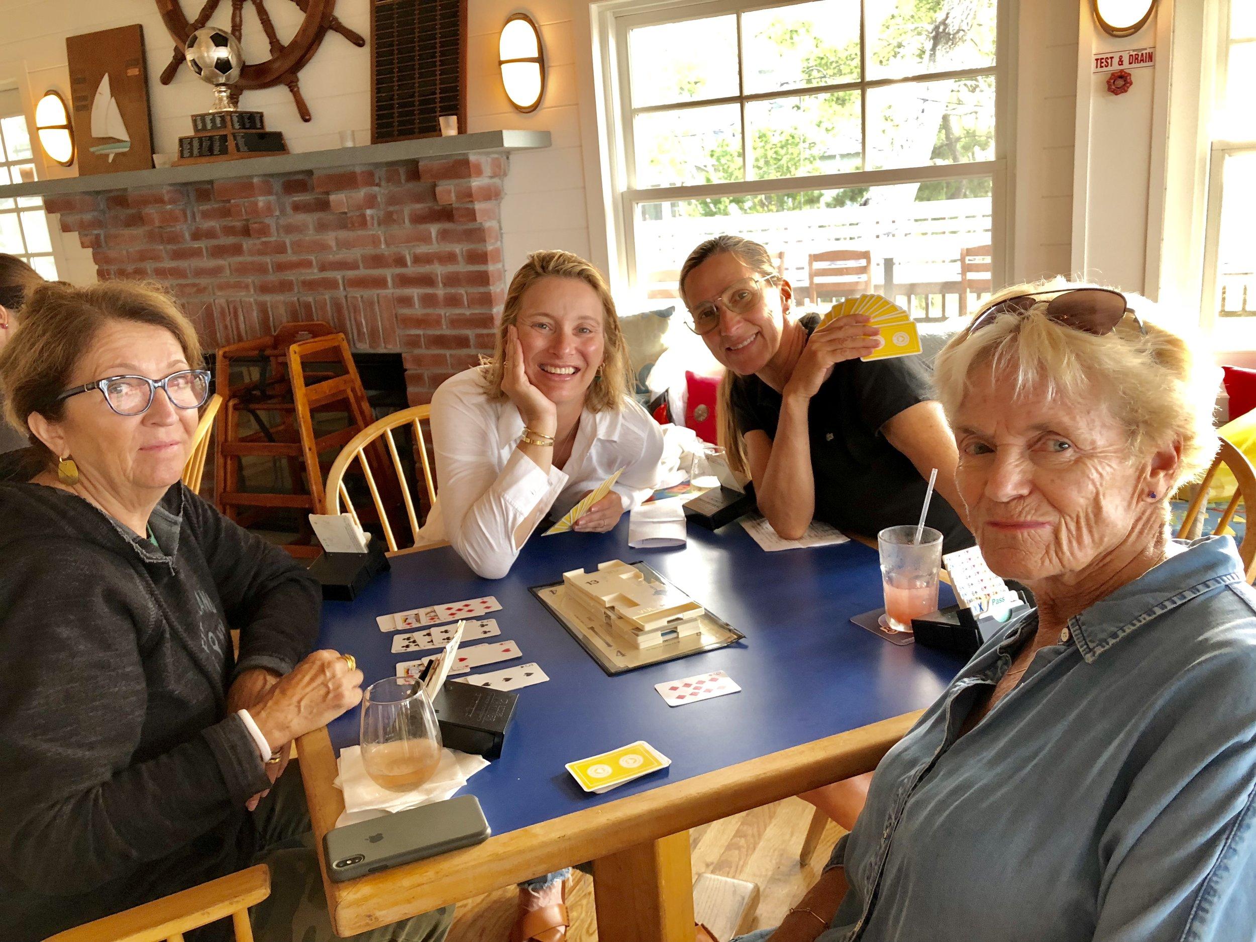 Bridge - Angela Kamen (instructor), Hildy Kuryk, Tracy Dockray Rudd, Clare Briody (instructor)
