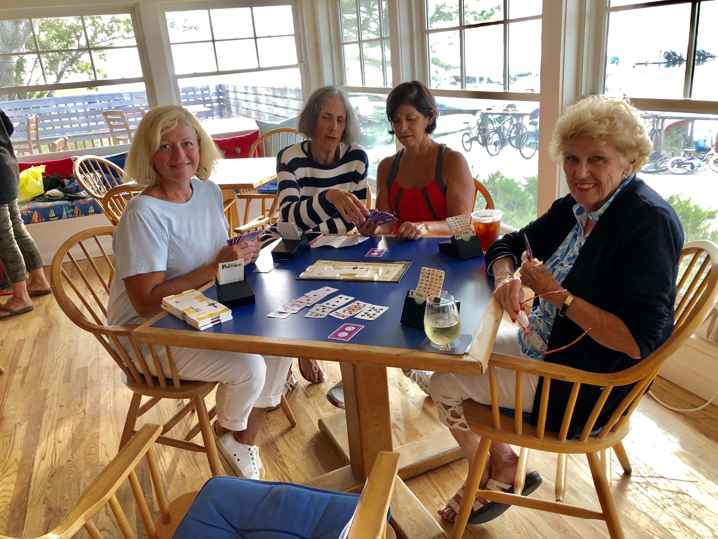 Bridge - Kathleen Coffey, Carole Sirovich (instructor), Lilli Diller, Lorraine Connolley