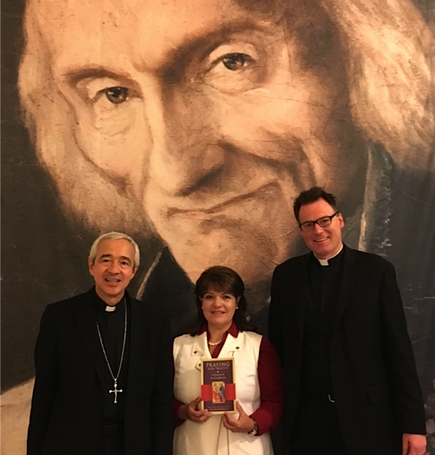 At the Congregation for Clergy, Rome: Archbishop Patron Wong and Monsignor Doktorczyk