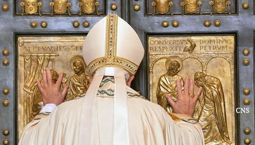The Mercy Door opens