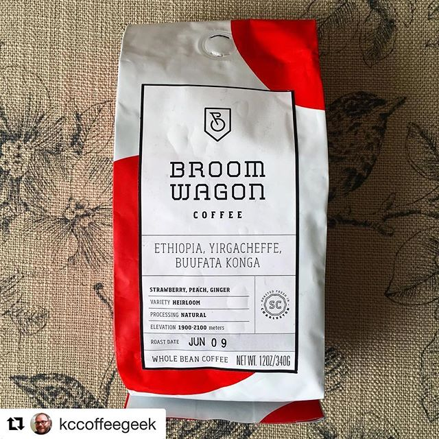 #mycoffeepub #subscribers, let us know what YOU think about this months#'a selection like @kccoffeegeek  shared! #Repost @kccoffeegeek (@get_repost) ・・・ Today on KCcoffeegeek.com I have this fantastic natural Ethiopian from this month's @mycoffeepub subscription! Link to the review is in my profile.... tons of peach, fresh strawberry... YuM! #coffee #coffeereview #broomwagoncoffee #kccoffeegeek #mycoffeepub #charlestonsc #charleston #southcarolina